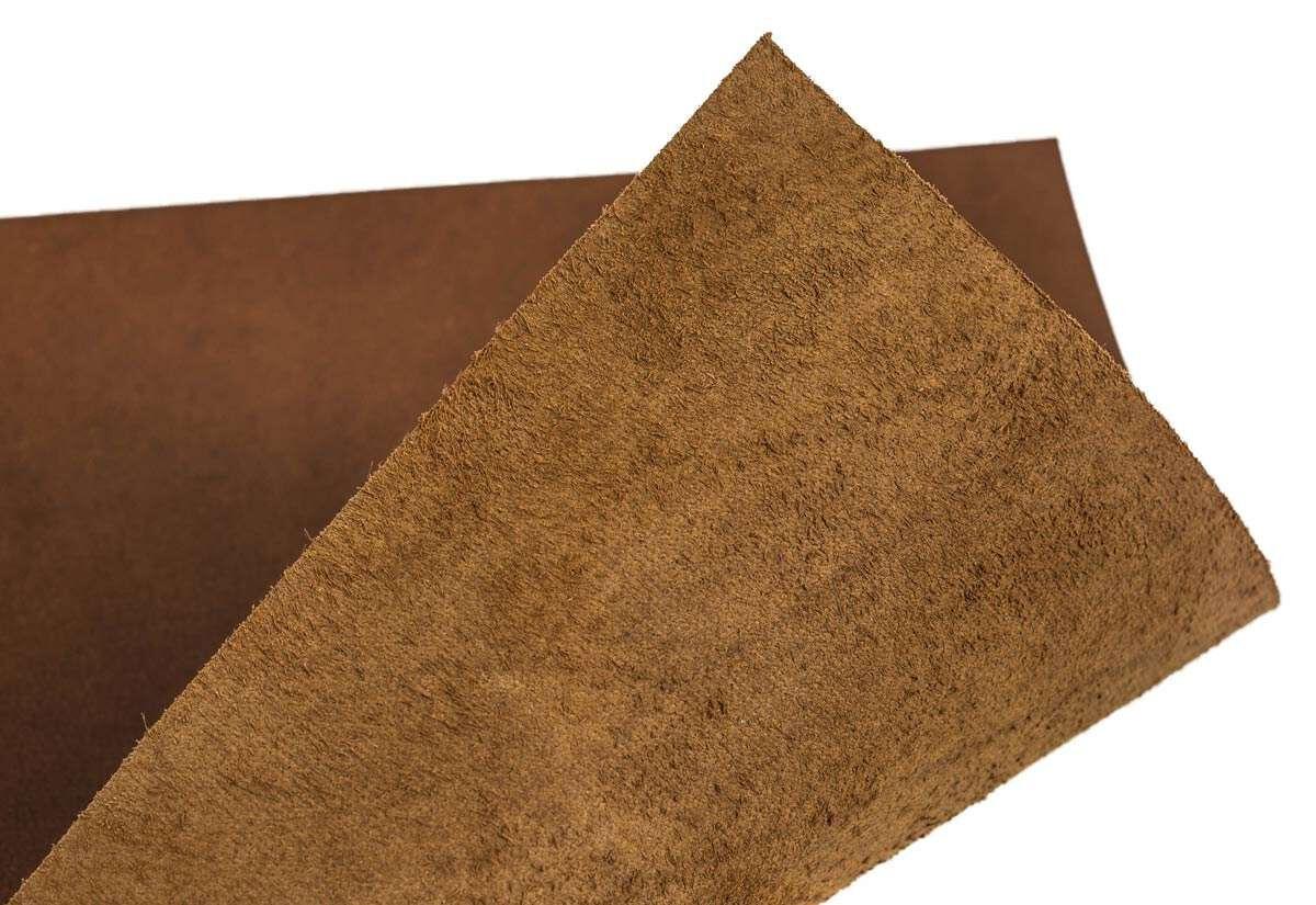 Læderstykke af bøffellæder brun