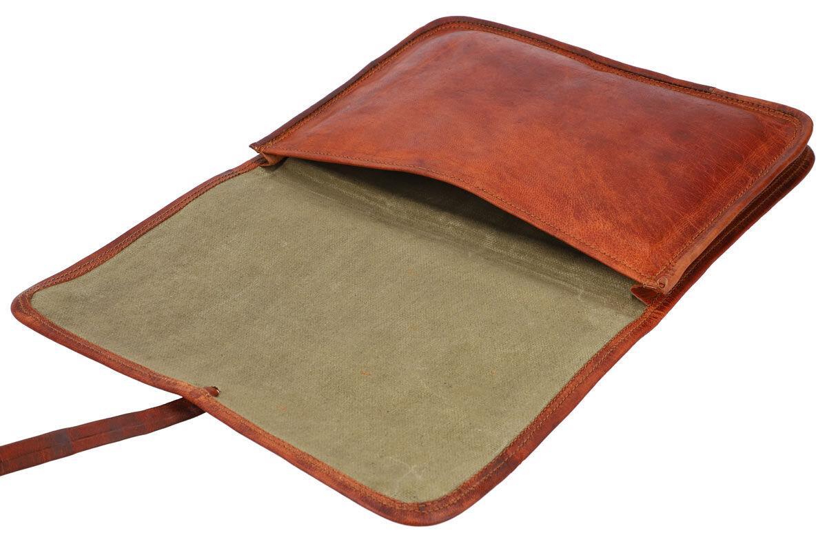 Outlet Laptoptasche - andere Innenfutter Farbe – kleinere Lederfehler – ansonsten neu – Siehe Video