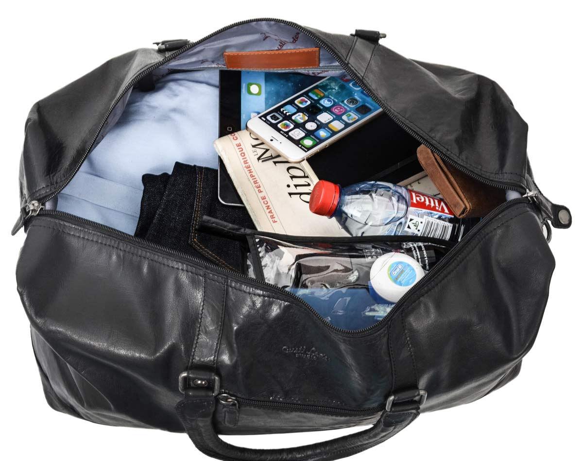 Outlet Reisetasche - Altes Logo - kleinere Lederfehler – Verfärbungen – ansonsten neu – Siehe Video