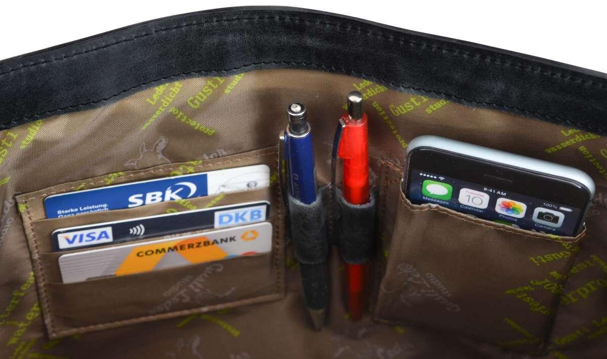 Outlet Businesstasche – Verfärbungen - kleinere Lederfehler - andere Innenfutter Farbe – ansonsten n