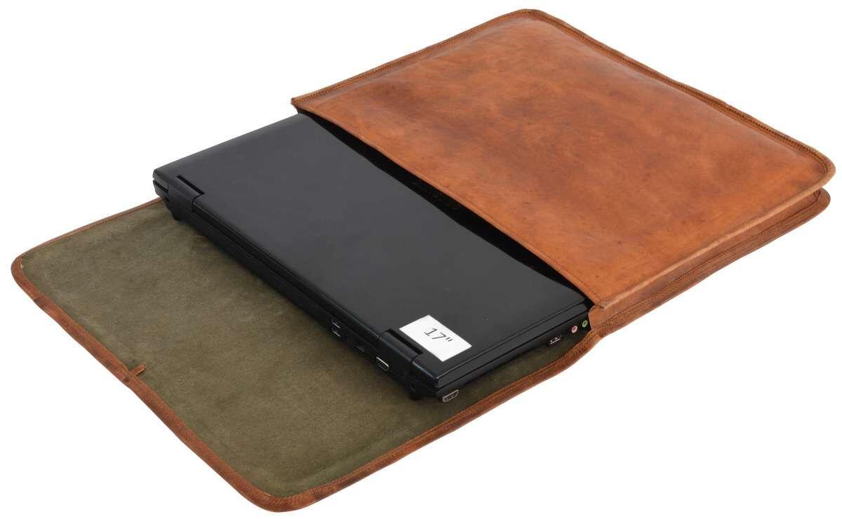 Outlet Laptoptasche - kleine Farbunterschiede im Leder - kleiner Lederfehler - leichte Verfärbung -