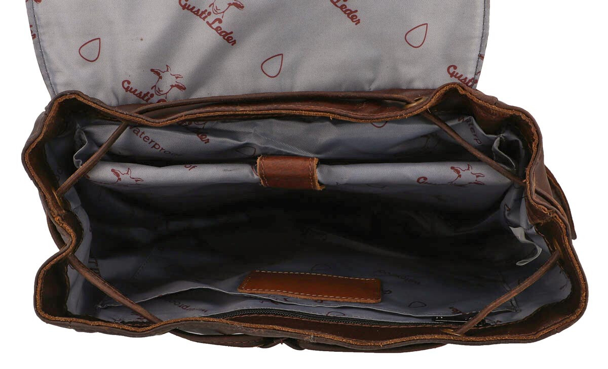 Outlet Rucksack – kleinere Lederfehler - Leder leicht fettig - ansonsten neu - siehe Video