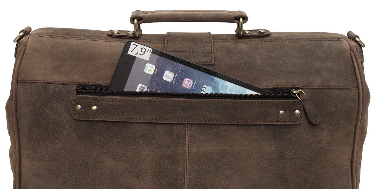 Outlet Reisetasche - andere Verschlüsse als im Angebot – kleinere Lederfehler - ansonsten neu – sieh