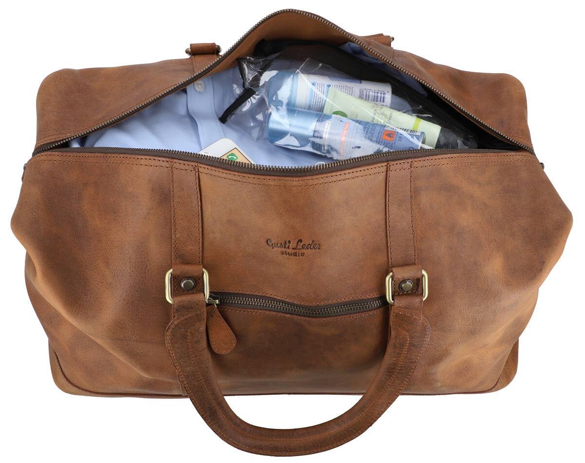 Outlet Reisetasche – kleinere Lederfehler - defekter Verschluss – ansonsten neu – Siehe Video