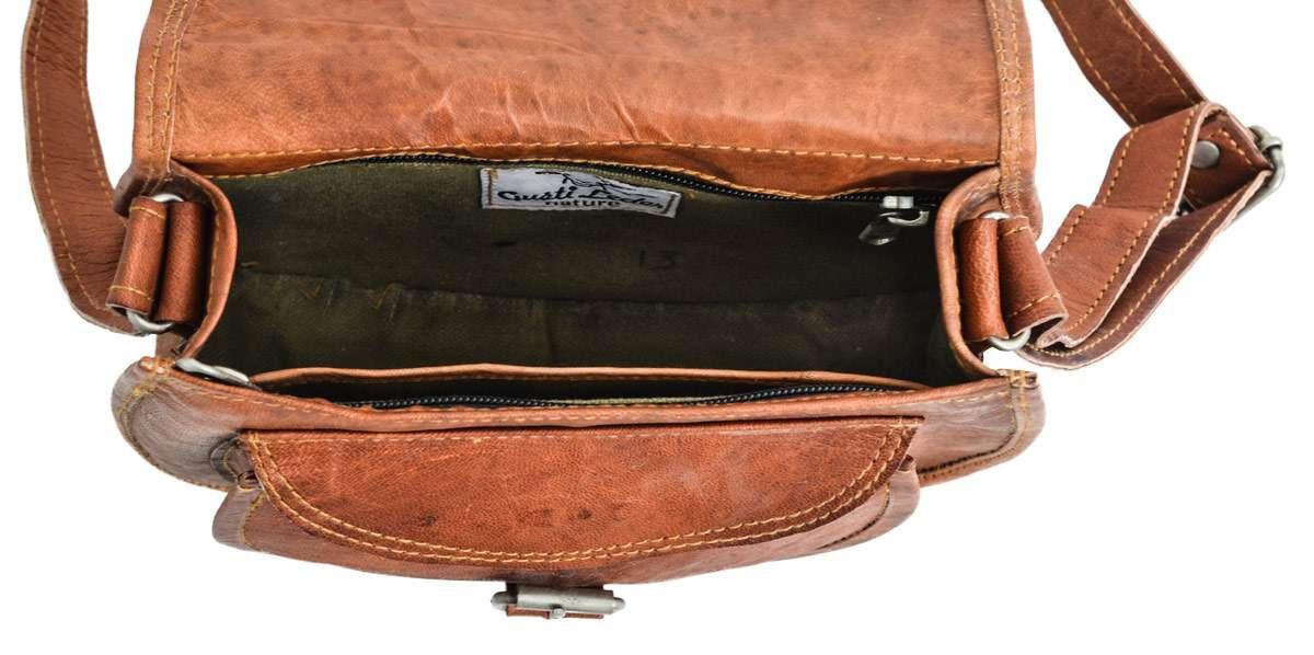 Outlet Umhängetasche - kleinere Lederfehler - kleine Farbunterschiede im Leder - defekte Nähte - ans