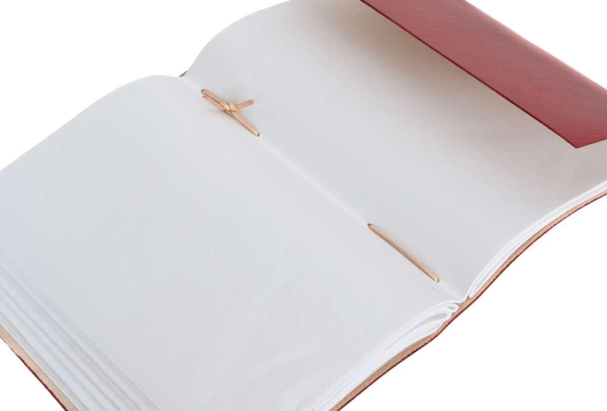 Outlet Notizbuch – kleinere Lederfehler – Verfärbungen – vergilbtes Zettel - ansonsten neu – Siehe V