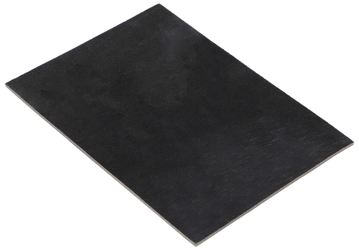 Läderstycke Läderbit DIN A5 DIY svart Läder
