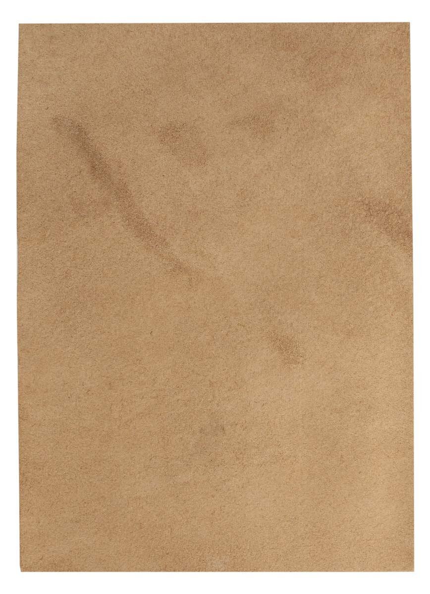Pezzo di pelle marrone chiaro di bufalo in formato A5