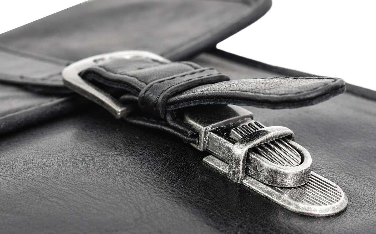 Outlet Aktentasche - fehlende Verschlüsse - Altes Logo - faltiges Leder - kleinere Lederfehler - Sch