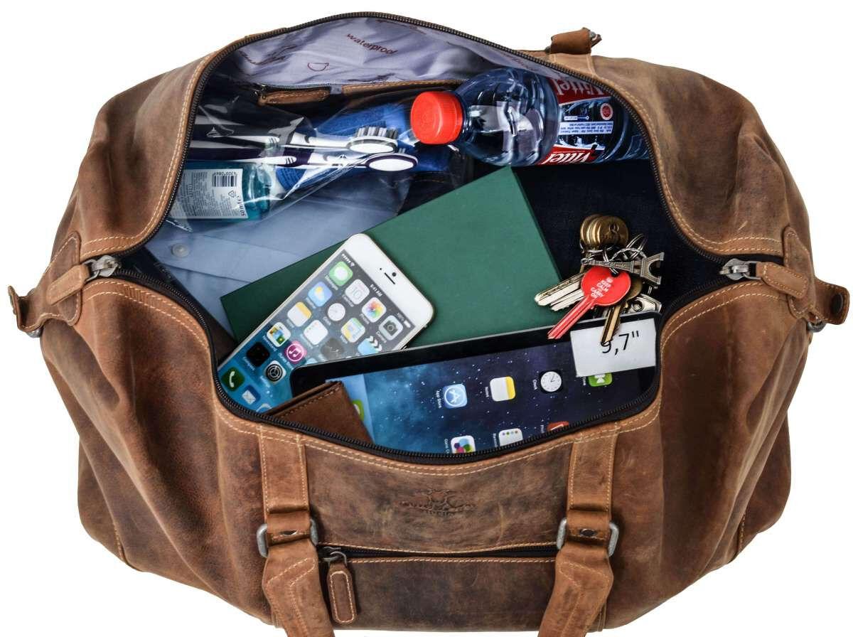 Outlet Reisetasche - kleine Farbunterschiede im Leder - ansonsten neu - siehe Video