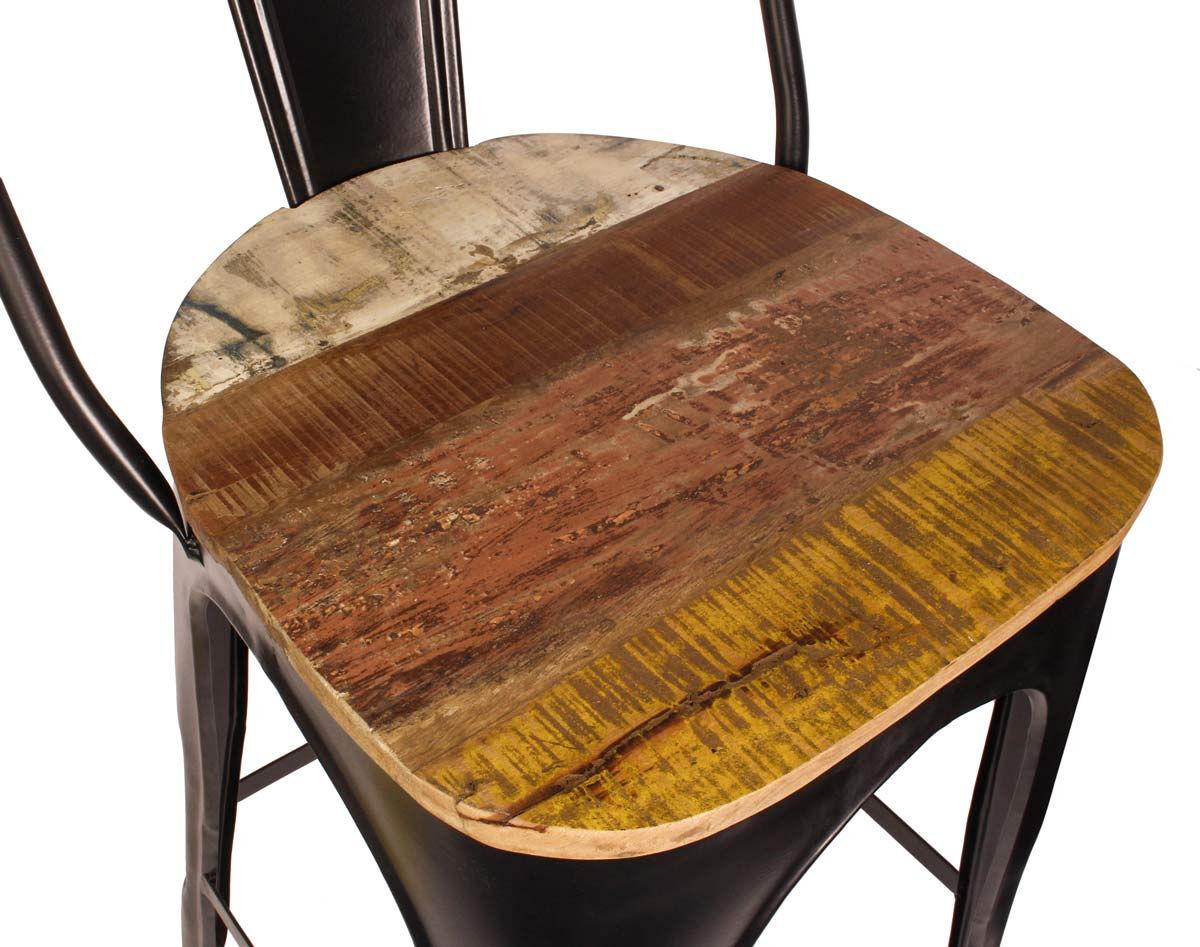 Outlet Wohnzimmerstuhl mit Sitz auf Holz - kleiner Lederfehler - fehlerhaftes Design - Defektes Stuh