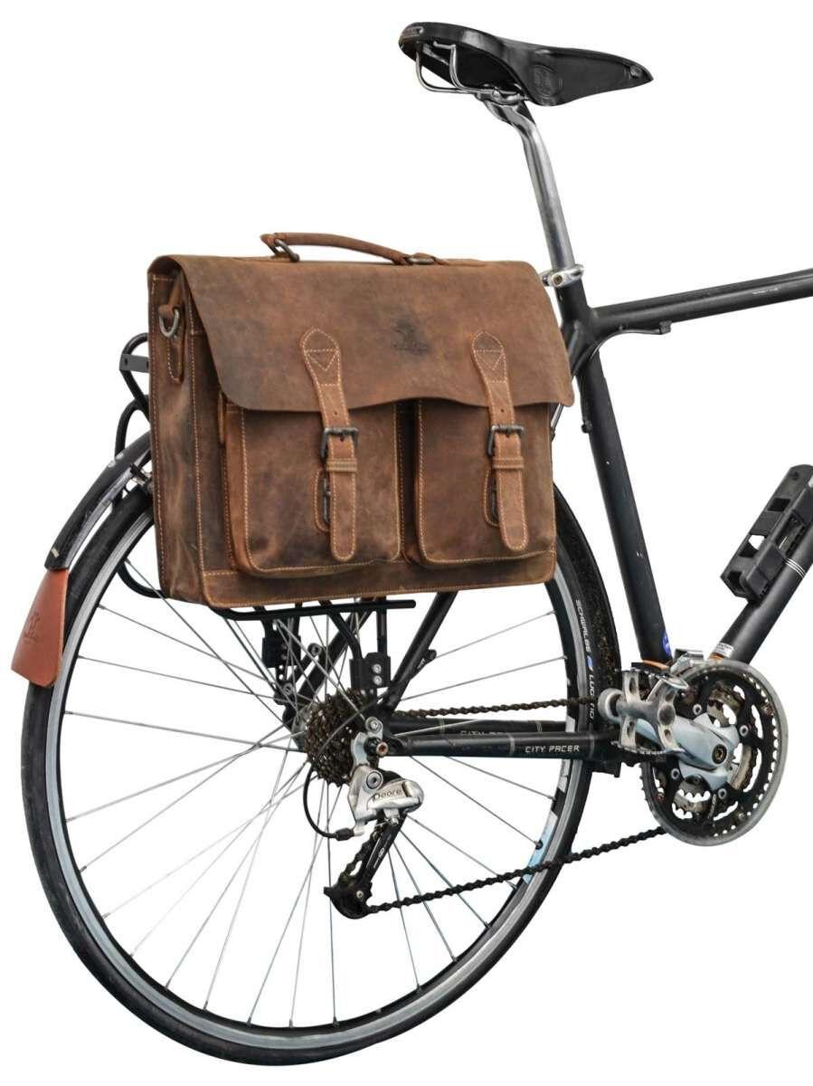 Outlet Fahrradtasche - kleiner Lederfehler - ansonsten neu - siehe Video