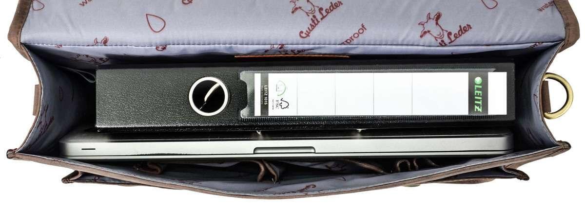 Outlet Aktentasche - kleinere Lederfehler - andere Verschlüsse als im Angebot - Schultergurt fehlt –