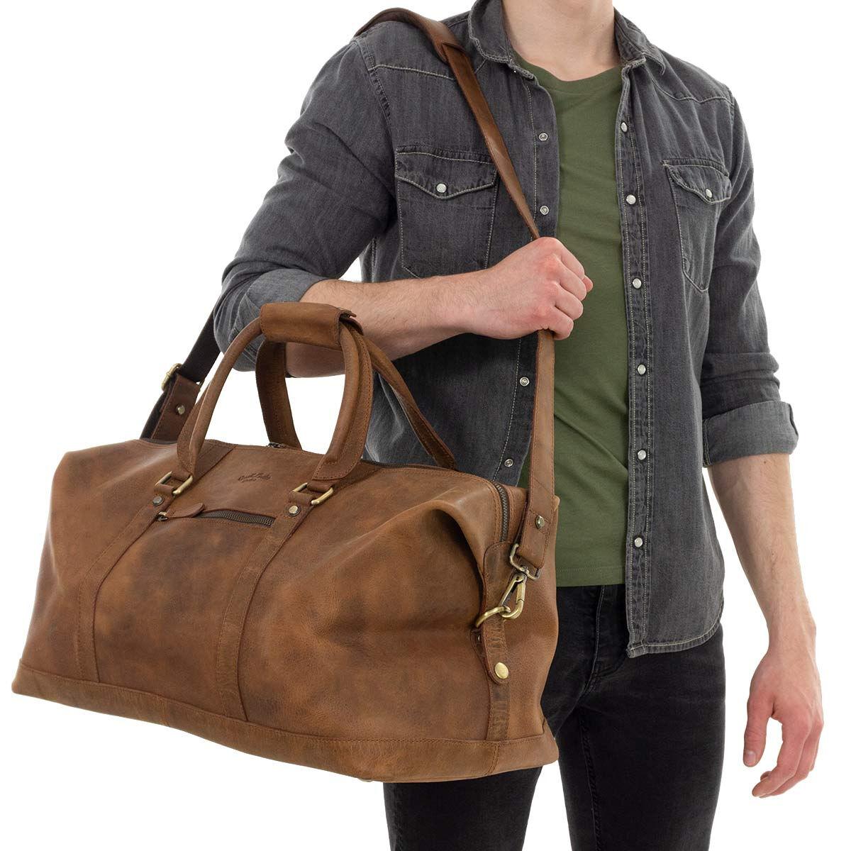 Outlet Reisetasche - kleinere Lederfehler – Schultergurt fehlt - faltiges Leder - kleine Farbuntersc