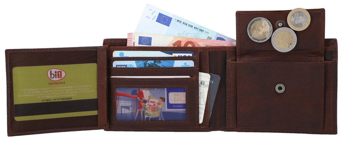 Outlet Geldbörse - kleiner Lederfehler - leichte Verfärbung - ansonsten neu - siehe Video