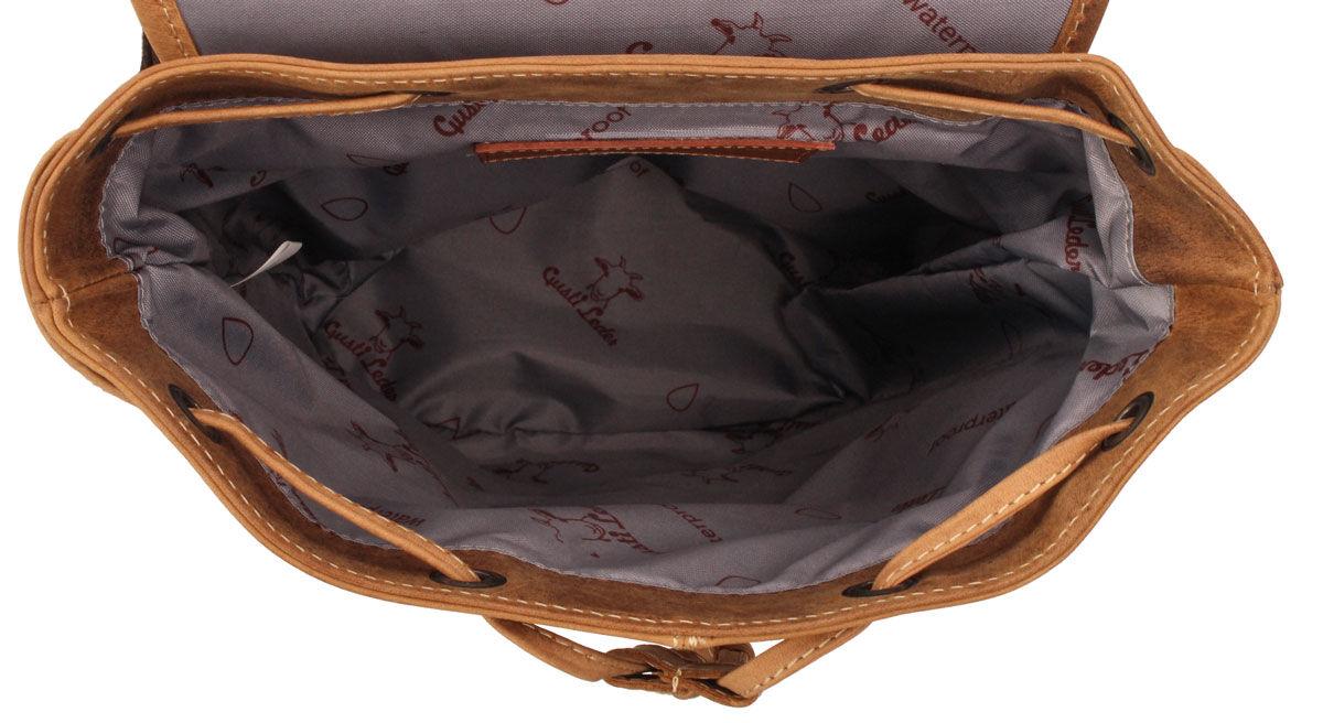 Outlet Rucksack - fehlender Verschluss - kleiner Lederfehler - kleine Farbunterschiede im Leder - an