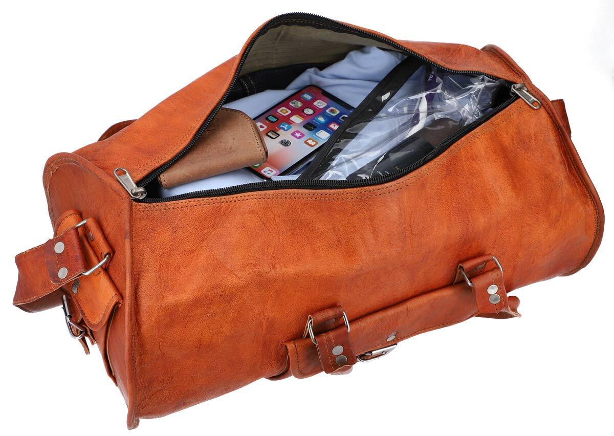 Outlet Reisetasche – kleinere Lederfehler - Leder leicht fettig - kleine Farbunterschiede im Leder –
