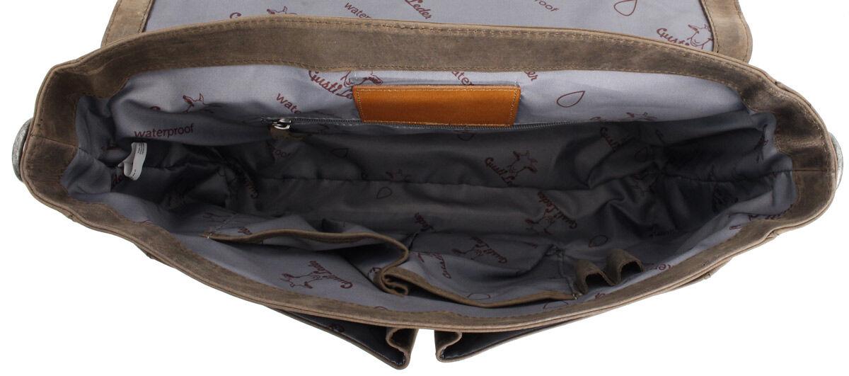 Outlet Aktentasche - kleiner Lederfehler - kleine Farbunterschiede im Leder - fehlender Verschluss -