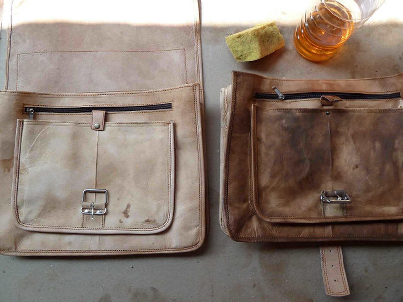 Ledergeruch entfernen Taschen Fettung