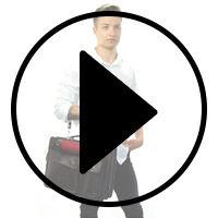 Outlet Businesstasche - defekter Verschluss - defekte Nähte - ansonsten neu - siehe Video