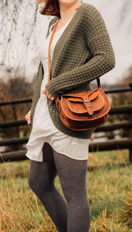Outlet Handtasche - faltiges Leder - ansonsten neu - siehe Video