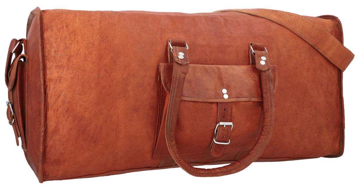 Outlet Reisetasche – Klebereste - leichter Rost - kleinere Lederfehler - andere Leder Farbe – Trages