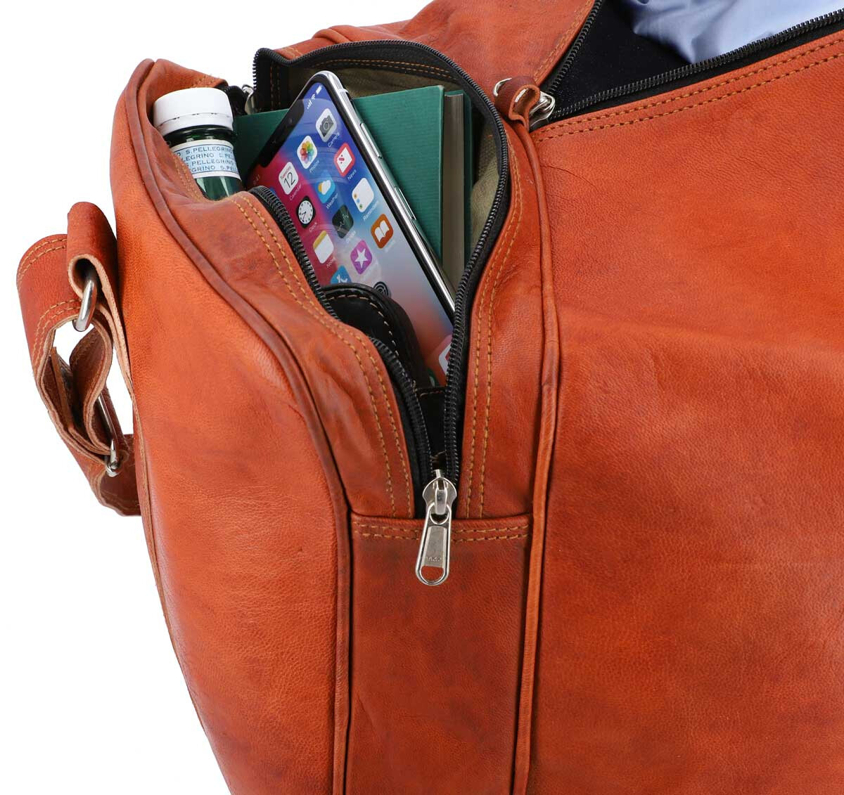 Outlet Reisetasche – Klebereste - leichter Rost - kleinere Lederfehler – ansonsten neu – siehe Video