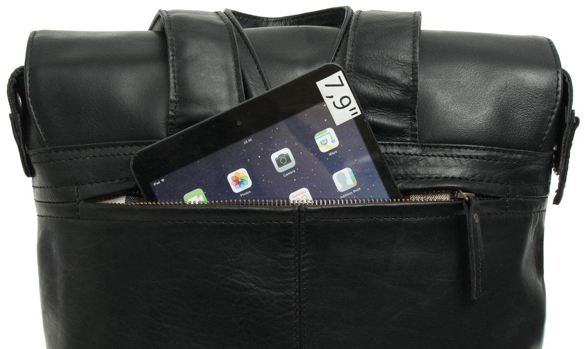 Outlet Rucksack - kleinere Lederfehler – gerissenes Lederband - fehlender Verschluss - ansonsten neu