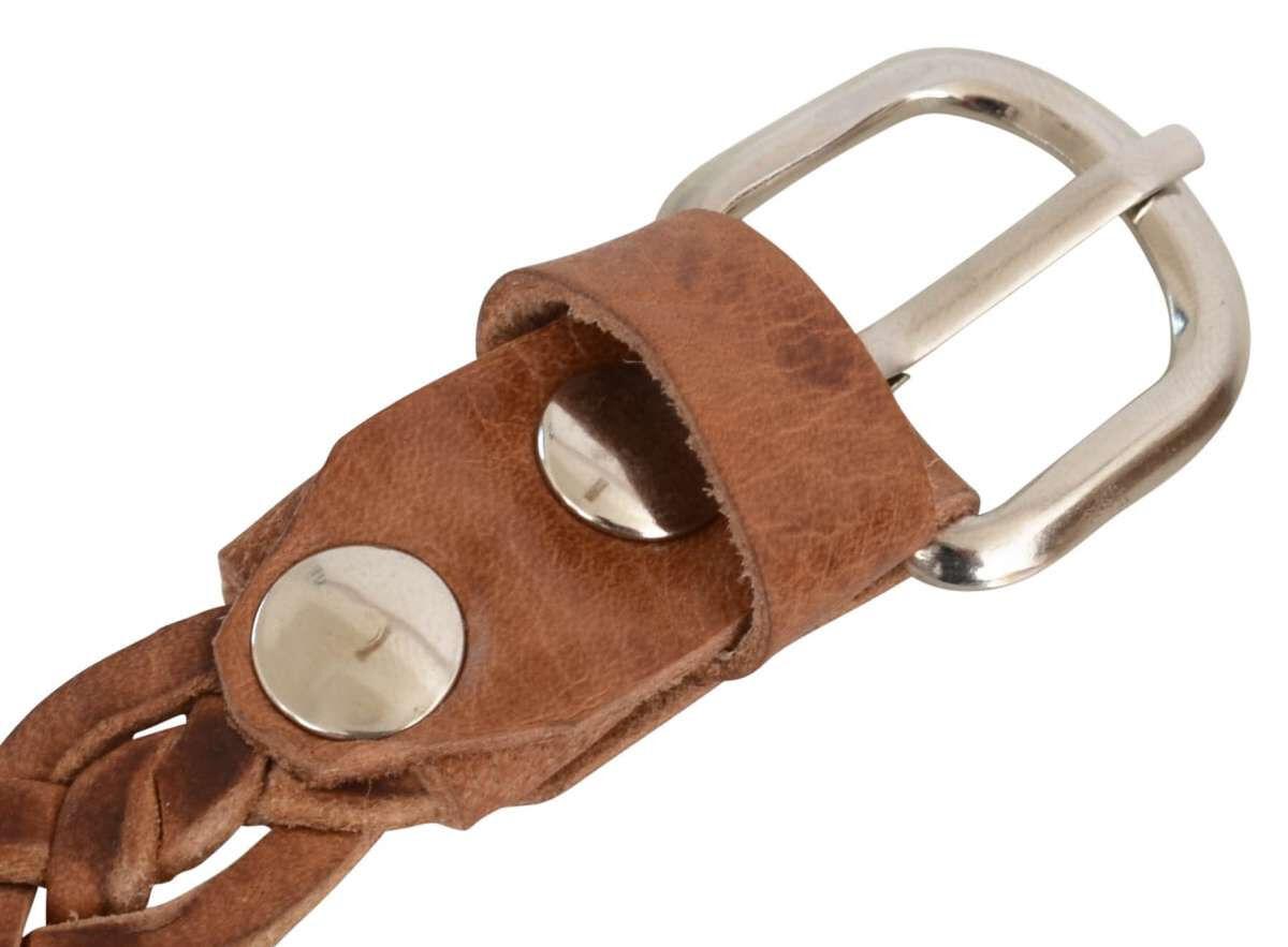 Cintura in vera pelle marrone chiaro