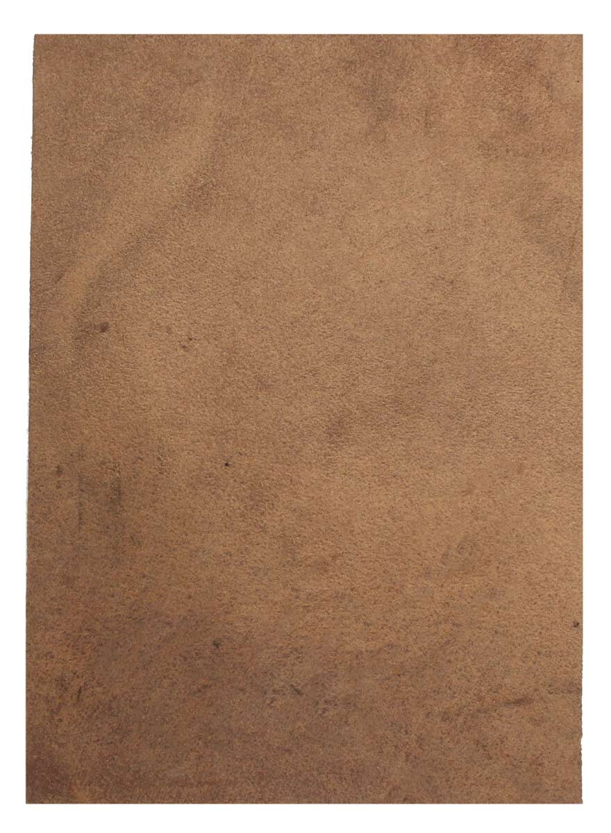 Brown Leather Piece Buffalo Hide 100% Natural
