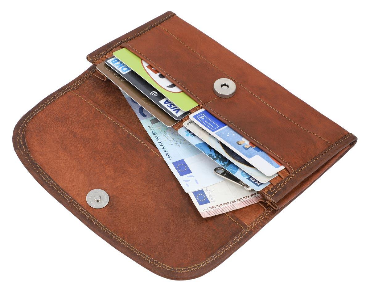 Outlet Portemonnaie - fehlerhaftes Design - kleinere Lederfehler – ansonsten neu – Siehe Video