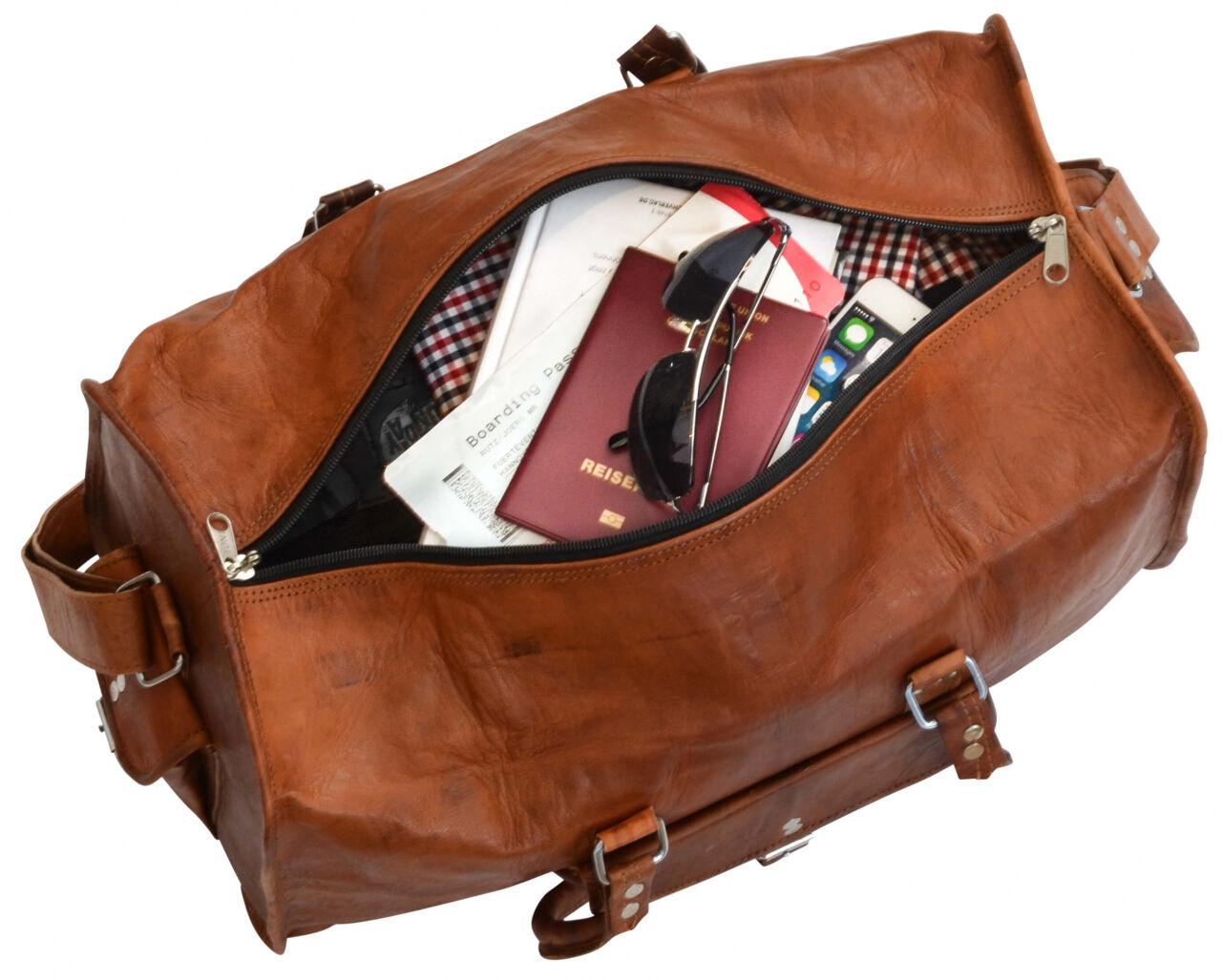 Outlet Reisetasche - kleine Farbunterschiede im Leder - Leder leicht fettig - ansonsten neu - siehe