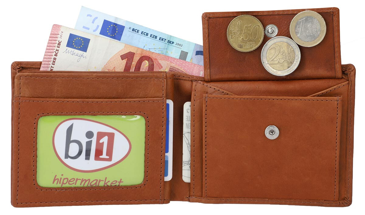 Outlet Geldbörse - kleine Farbunterschiede im Leder - leichte Verfärbung - ansonsten neu - siehe Vid