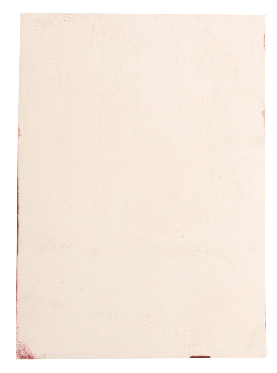 Pezzo di pelle di bufalo rossa in formato A5