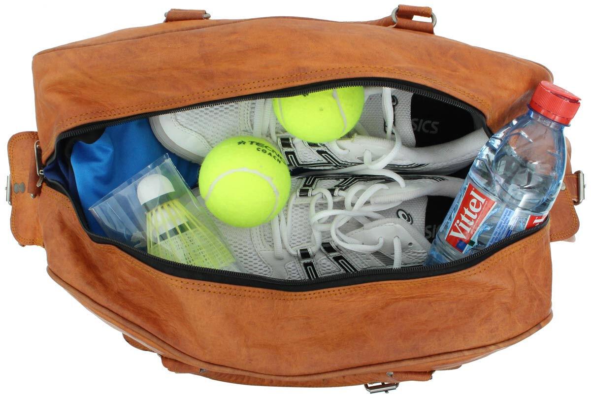 Outlet Reisetasche - andere Innenfutter Farbe – kleinere Lederfehler - faltiges Leder - ansonsten ne