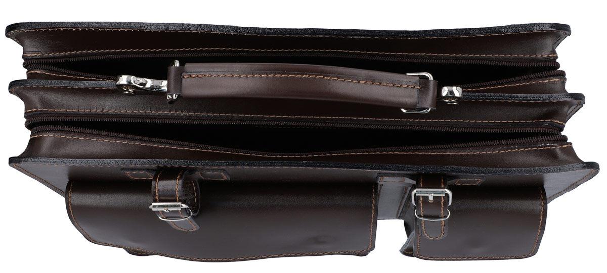 Outlet Aktentasche - kleinere Lederfehler - leichter Fehler im Innenfutter - Schultergurt fehlt-