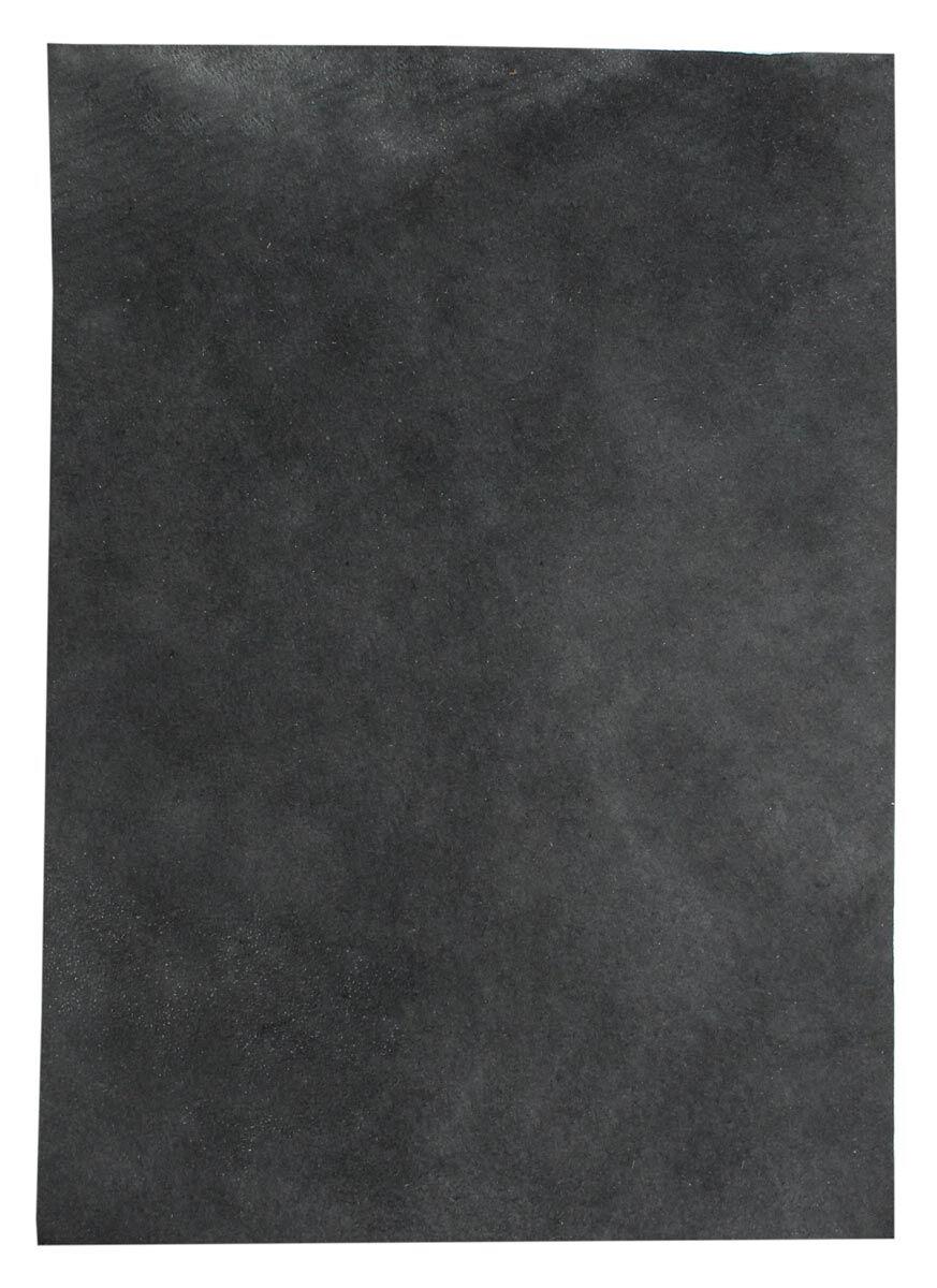 Pezzo di pelle nera di pecora