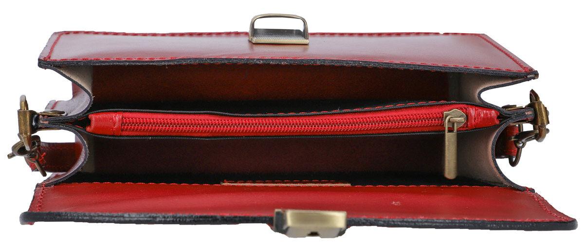 Outlet Handtasche - defekte Nähte - Schultergurt fehlt - faltiges Leder - ansonsten neu - siehe Vide