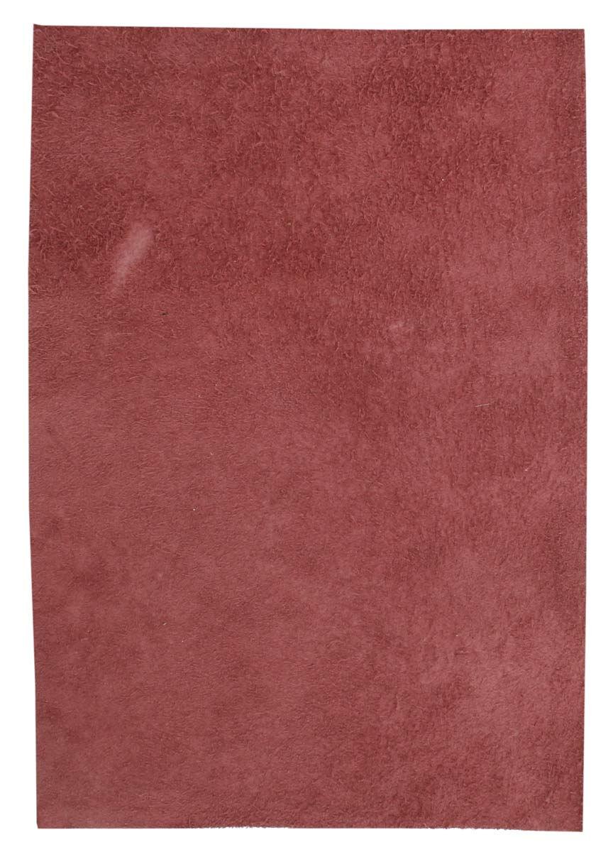 Læderstykke af koskind vinrød