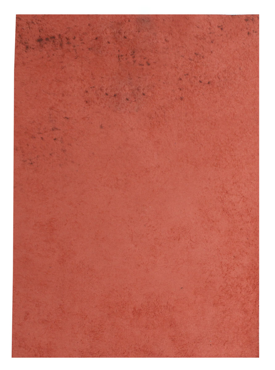 Red Leather Piece Buffalo Hide 100% Natural