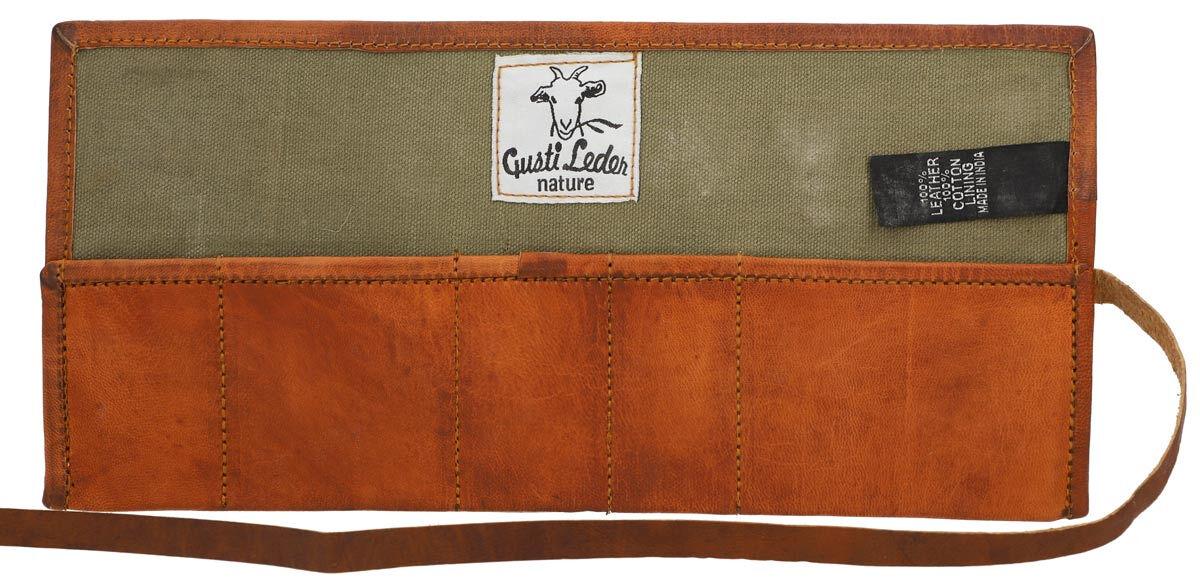 Outlet Federtasche - kleinere Lederfehler - leichte Verfärbung -Leder leicht fettig – ansonsten neu