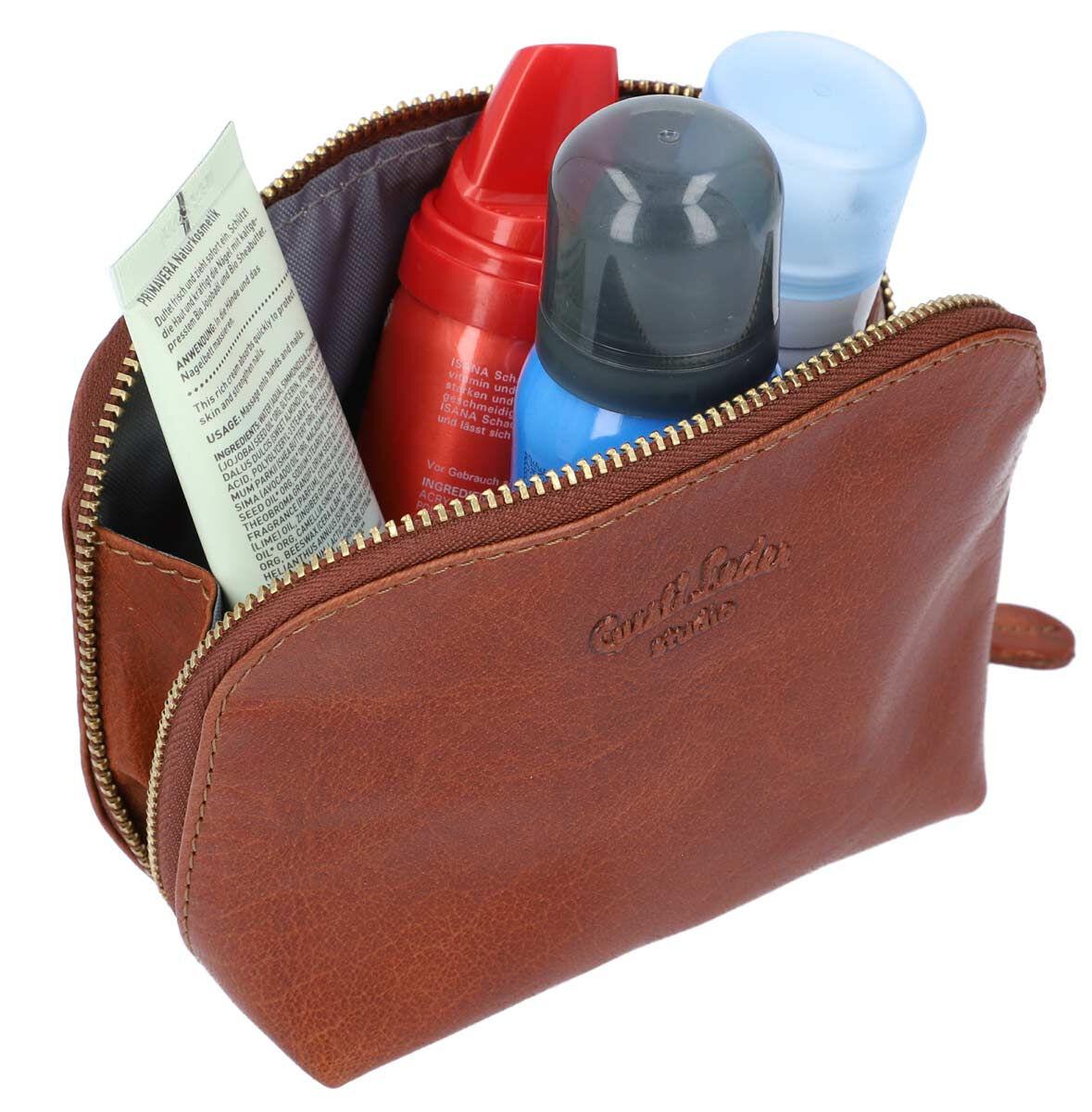 Outlet Kosmetiktasche - kleiner Lederfehler - faltiges Leder - ansonsten neu - siehe Video