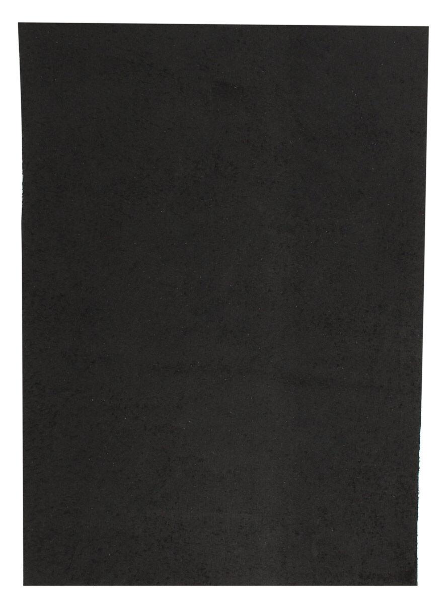 Schwarz Lederstück aus Büffelleder