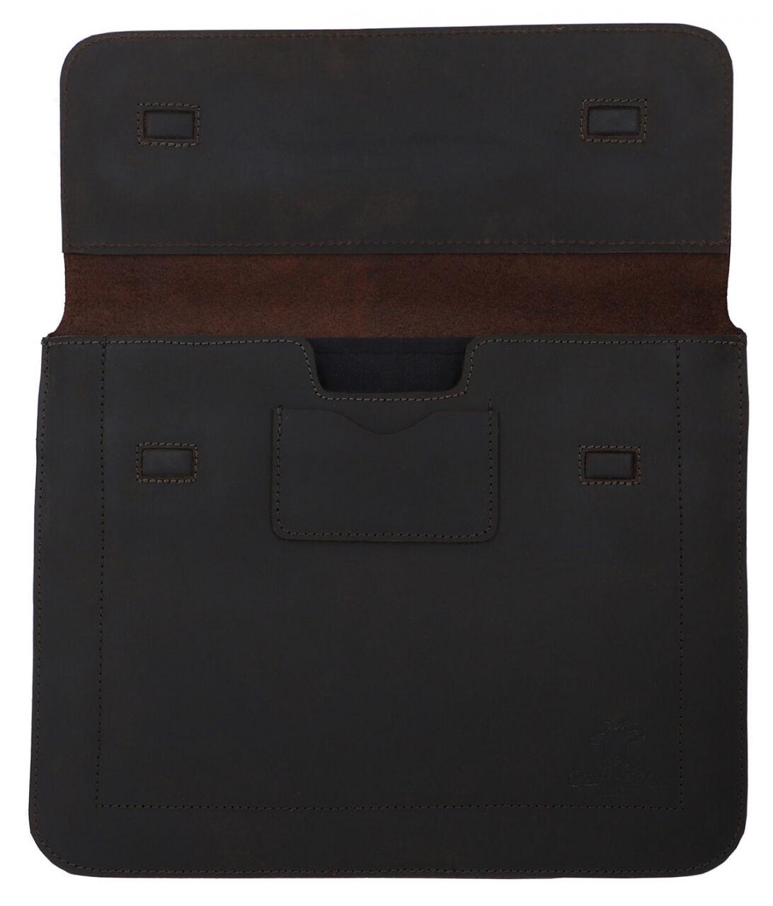 Outlet Laptophülle - defekte Nähte - kleinere Lederfehler – Leder leicht fettig - ansonsten neu – si