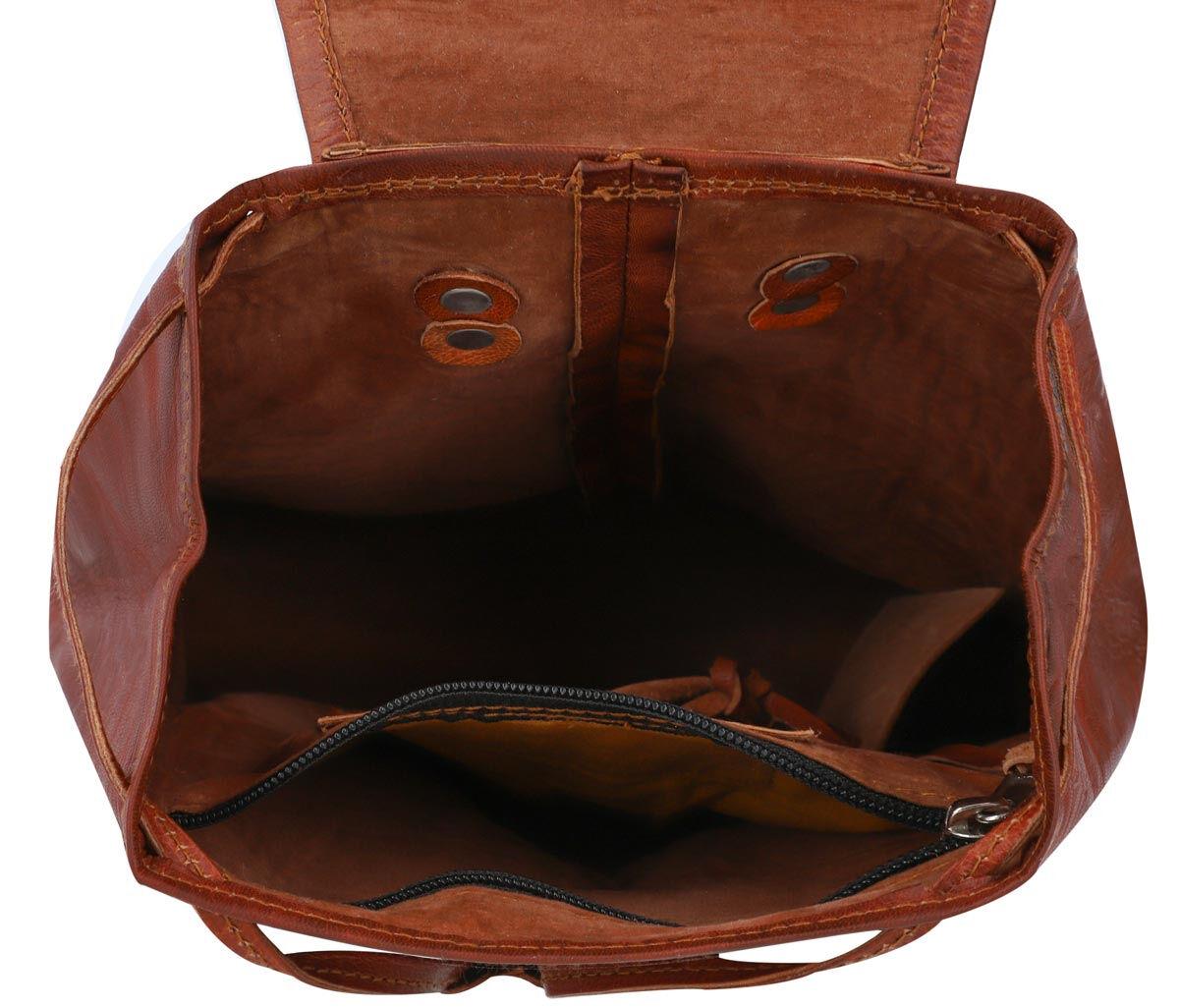 Outlet Rucksack - kleinere Lederfehler - faltiges Leder - Klebereste - ansonsten neu – siehe Video