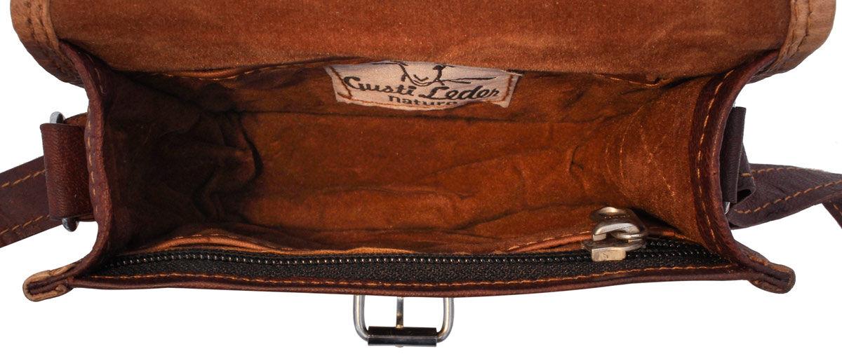 Outlet Handtasche – kleinere Lederfehler - Leder leicht fettig - kleine Farbunterschiede im Leder –