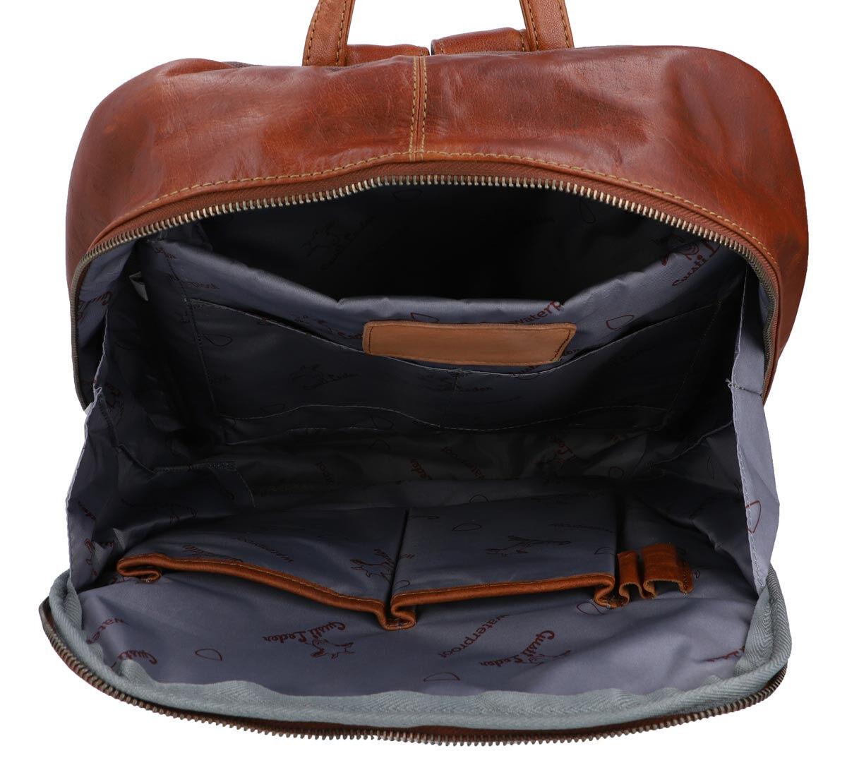 Outlet Rucksack – kleinere Lederfehler - eines defekten Reißverschlusses - Kugelschreiberspuren auf