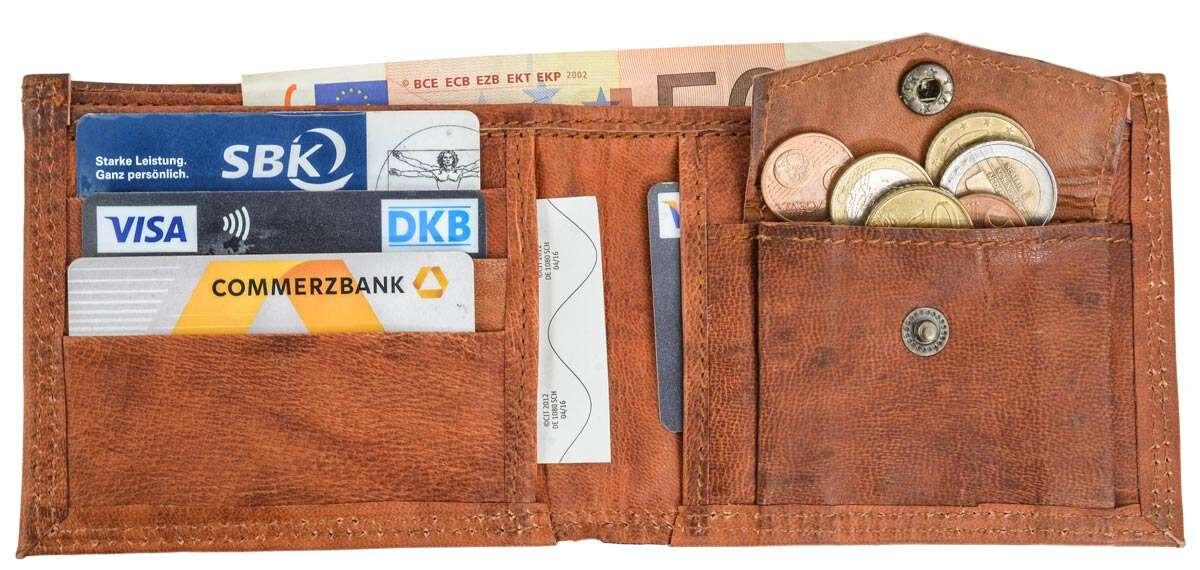 Outlet Geldbörse – kleinere Lederfehler – ansonsten neu – siehe Video