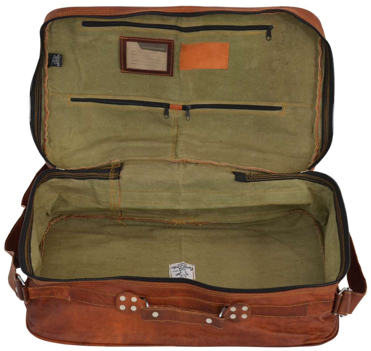 Outlet Reisetasche - Farbunterschiede im Leder - kleinere Lederfehler - faltiges Leder – ansonsten n