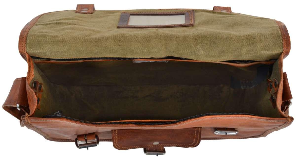 Outlet Umhängetasche – Klebereste - kleinere Lederfehler - leichter Rost - faltiges Leder - ansonste